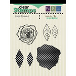 We R Memory Keepers - Good Day Sunshine Collection - Clear Acrylic Stamps - Rose Leaves