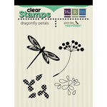 We R Memory Keepers - Good Day Sunshine Collection - Clear Acrylic Stamps - Dragonfly Petals