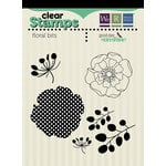 We R Memory Keepers - Good Day Sunshine Collection - Clear Acrylic Stamps - Floral Bits