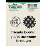 We R Memory Keepers - Good Day Sunshine Collection - Clear Acrylic Stamps - Daisy Phrases