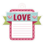 We R Memory Keepers - Love Struck Collection - Embossed Tags - Love