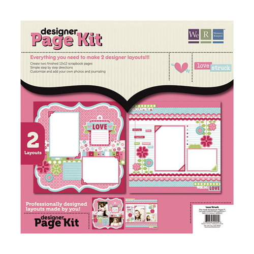 We R Memory Keepers - Love Struck Collection - 12 x 12 Designer Page Kit