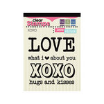 We R Memory Keepers - Love Struck Collection - Clear Acrylic Stamps - XOXO