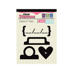 We R Memory Keepers - Love Struck Collection - Clear Acrylic Stamps - Dates and Tabs