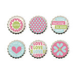 We R Memory Keepers - Love Struck Collection - Bottle Caps
