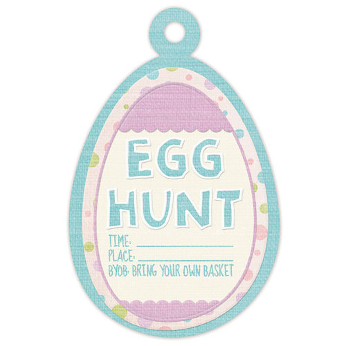 We R Memory Keepers - Cotton Tail Collection - Embossed Tags - Egg Hunt