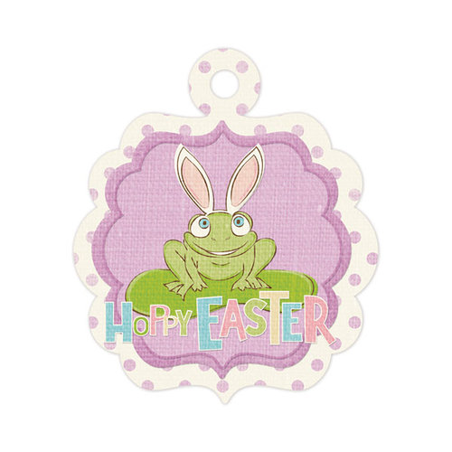 We R Memory Keepers - Cotton Tail Collection - Embossed Tags - Hoppy Easter