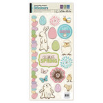 We R Memory Keepers - Cotton Tail Collection - Embossed Cardstock Stickers