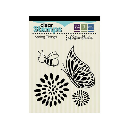 We R Memory Keepers - Cotton Tail Collection - Clear Acrylic Stamps - Spring Things