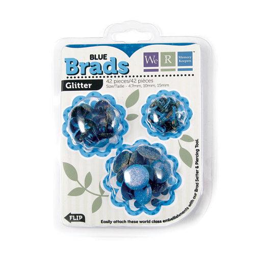 We R Memory Keepers - Brad Basics - Glitter - Blue