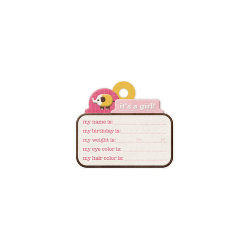 We R Memory Keepers - Baby Mine Collection - Embossed Tags - It's a Girl
