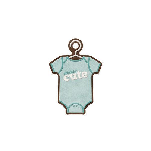 We R Memory Keepers - Baby Mine Collection - Embossed Tags - Cute Boy