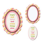 We R Memory Keepers - Baby Mine Collection - Embossed Frames - Sugar and Spice