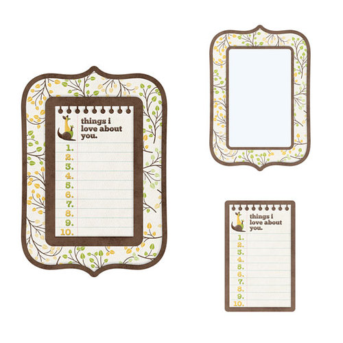 We R Memory Keepers - Baby Mine Collection - Embossed Frames - Things I Love