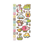 We R Memory Keepers - Baby Mine Collection - Embossed Cardstock Stickers