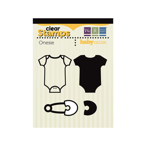 We R Memory Keepers - Baby Mine Collection - Clear Acrylic Stamps - Onesie