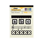 We R Memory Keepers - Baby Mine Collection - Clear Acrylic Stamps - Baby Borders