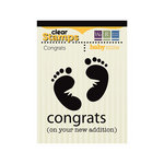 We R Memory Keepers - Baby Mine Collection - Clear Acrylic Stamps - Congrats