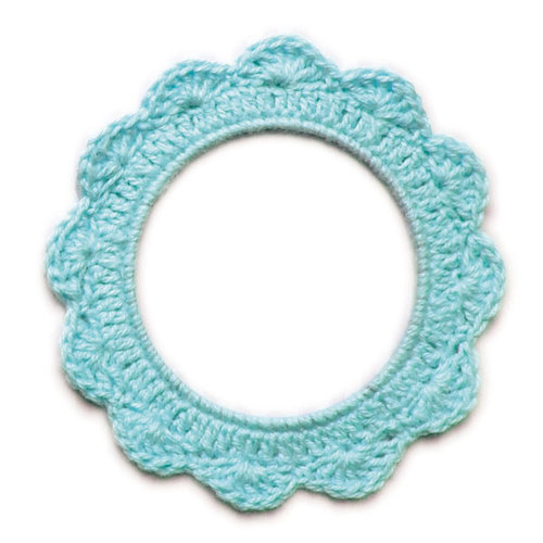 We R Memory Keepers - Baby Mine Collection - Crochet Doily - Boy