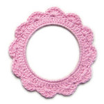 We R Memory Keepers - Baby Mine Collection - Crochet Doily - Girl