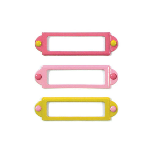 We R Memory Keepers - Baby Mine Collection - Metal Frames and Brads - Girl