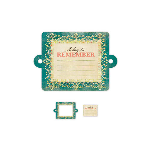We R Memory Keepers - Anthologie Collection - Embossed Tags - Mini Frames - A Day To Remember