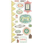 We R Memory Keepers - Anthologie Collection - Embossed Cardstock Stickers