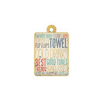 We R Memory Keepers - Down the Boardwalk Collection - Embossed Tags - Necessities