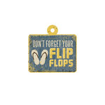 We R Memory Keepers - Down the Boardwalk Collection - Embossed Tags - Flip Flops