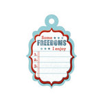 We R Memory Keepers - Red White and Blue Collection - Embossed Tags - Freedoms List