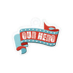 We R Memory Keepers - Red White and Blue Collection - Embossed Tags - Our Hero
