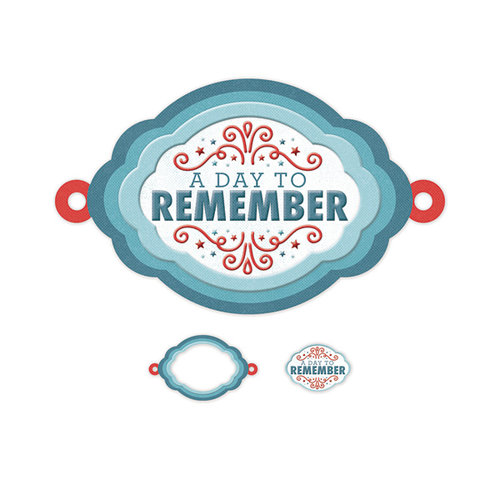 We R Memory Keepers - Red White and Blue Collection - Embossed Tags - Mini Frames - Day to Remember
