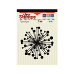 We R Memory Keepers - Red White and Blue Collection - Clear Acrylic Stamps - Firework
