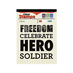 We R Memory Keepers - Red White and Blue Collection - Clear Acrylic Stamps - Hero