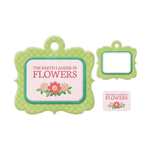 We R Memory Keepers - Embossed Tags - Mini Frames - Flowers