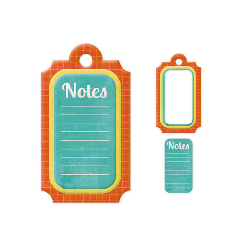 We R Memory Keepers - Embossed Tags - Mini Frames - Notes