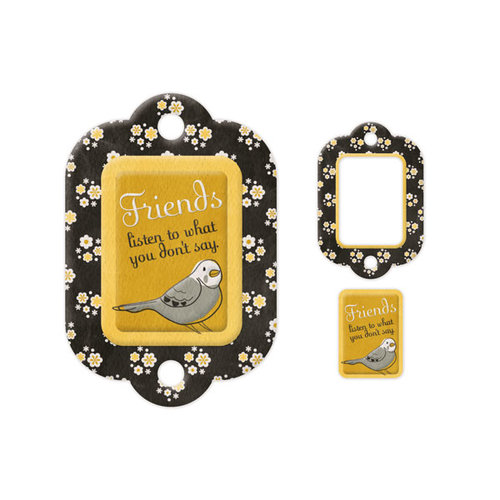 We R Memory Keepers - Embossed Tags - Mini Frames - Friends