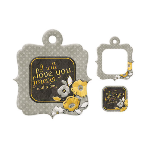 We R Memory Keepers - Embossed Tags - Mini Frames - Love You