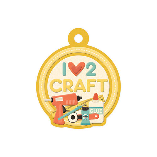 We R Memory Keepers - Love 2 Craft Collection - Embossed Tags - I Love 2 Craft