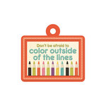 We R Memory Keepers - Love 2 Craft Collection - Embossed Tags - Outside the Lines