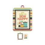 We R Memory Keepers - Love 2 Craft Collection - Embossed Tags - Mini Frames - Sew Happy
