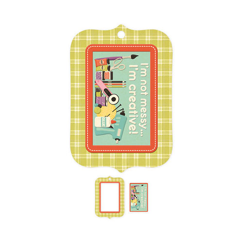 We R Memory Keepers - Love 2 Craft Collection - Embossed Tags - Mini Frames - I'm Creative