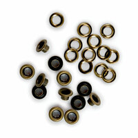 We R Memory Keepers - Eyelets and Washers - Brass - 3/16 Inch
