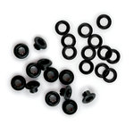 We R Memory Keepers - 316 Eyelets and Washers - Black