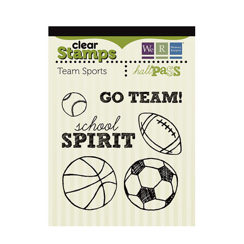 We R Memory Keepers - Hall Pass Collection - Clear Acrylic Stamps - Team Sports