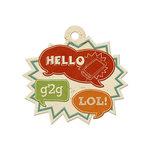 We R Memory Keepers - Hall Pass Collection - Embossed Tags - Hello