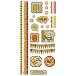 We R Memory Keepers - Hall Pass Collection - Embossed Cardstock Stickers