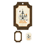 We R Memory Keepers - Black Widow Collection - Halloween - Embossed Tags - Mini Frames - You're Invited