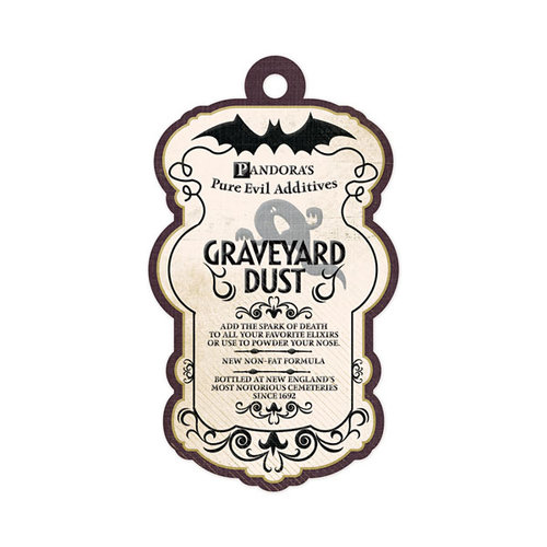 We R Memory Keepers - Black Widow Collection - Halloween - Embossed Tags - Graveyard Dust