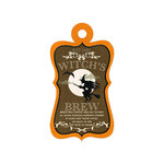 We R Memory Keepers - Black Widow Collection - Halloween - Embossed Tags - Witch's Brew